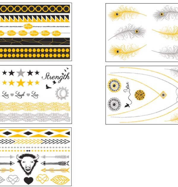 Tribal Mystique Temporary Tattoo Sheets