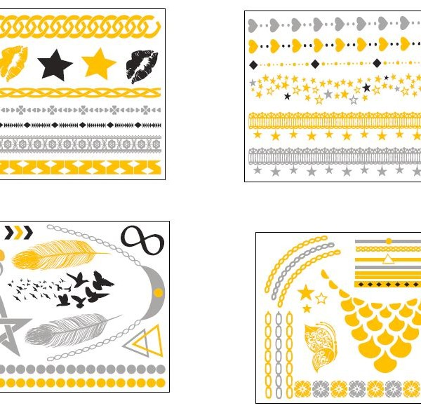 Diva Chic 4 Temporary Tattoo Sheets