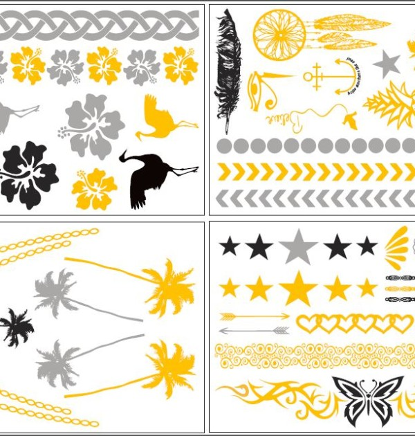 Isla Bonita Temporary Tattoo Sheet