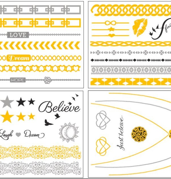 Mantra Dream Temporary Tattoo Sheets